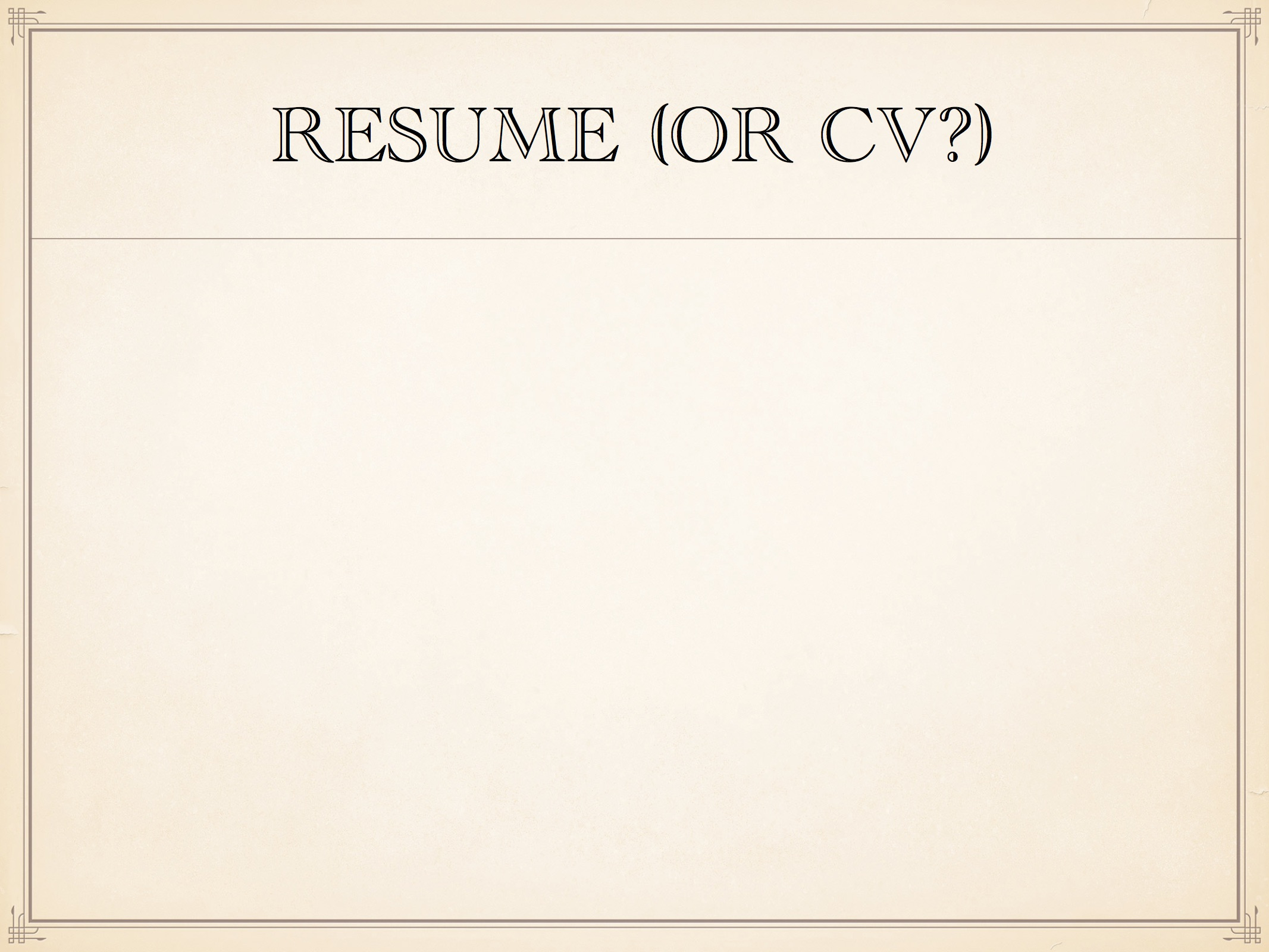 a student asked us to help her understand the difference between a resume and a cv she had read a bunch of stuff online and was confused what she should