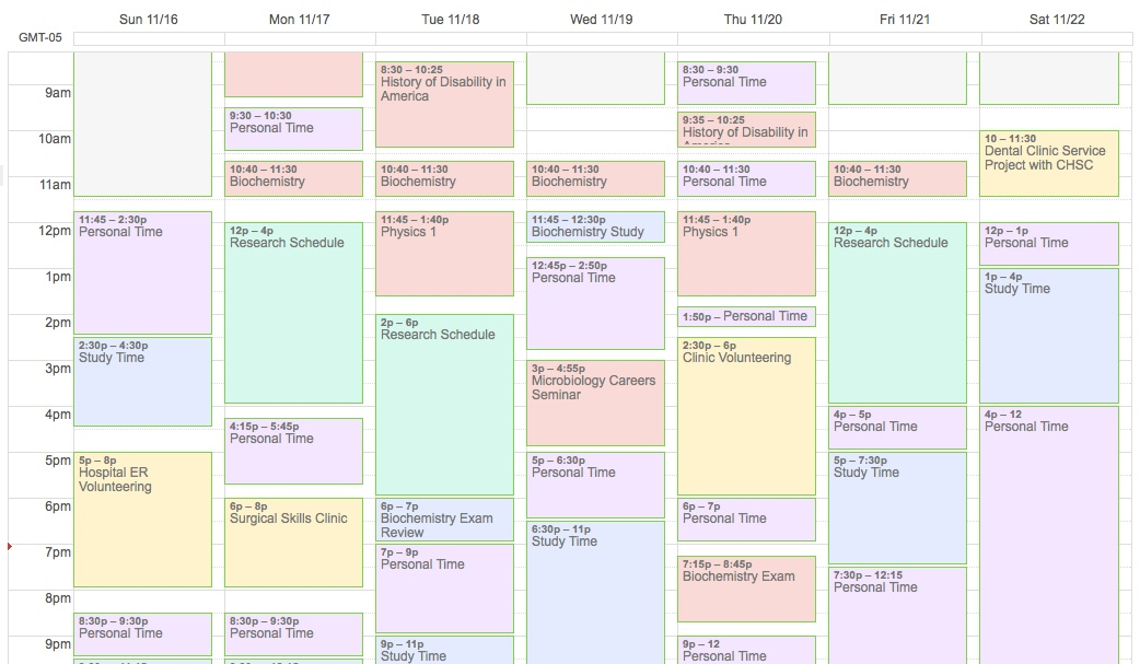 schedule your lab time even if your research supervisor doesn t